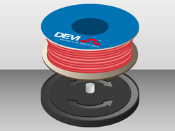 DEVI Turntable™: простая работа с нагревательным кабелем