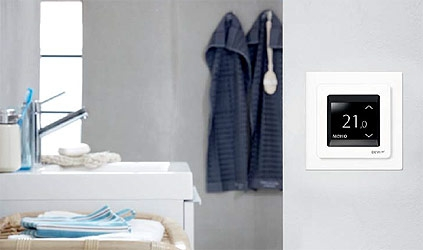 Терморегулятор DEVIreg™ Touch дололняет даже самый изысканный интерьер
