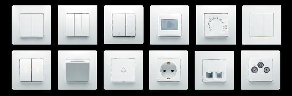 Виды механизмов электрофурнитуры Etika™ и Etika Plus™ Legrand