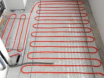 Обогрев балкона с помощью электрического теплого пола