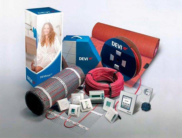 Нагревательный кабель и маты Devi, терморегуляторы DEVIreg
