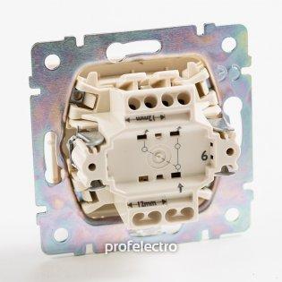 774306 Механизм выключателя одноклавишного проходного (универсального) слоновая кость 10А 250В Valena Legrand на profelectro