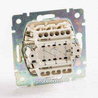 770108 Механизм выключателя двухклавишного проходного (универсального) алюминий 10А 250В Valena Legrand на profelectro.com.ua