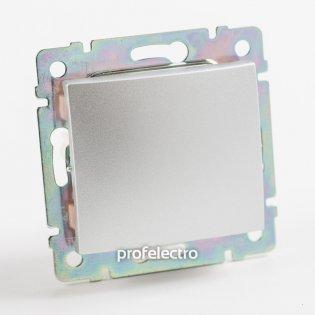 770107 Выключатель одноклавишный крестовой (промежуточный) алюминий без рамки 10А 250В Valena Legrand на profelectro.com.ua