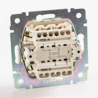 770107 Механизм выключателя одноклавишного крестового (промежуточного) алюминий 10А 250В Valena Legrand на profelectro.com.ua