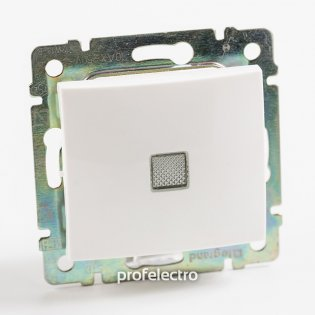 774410 Выключатель одноклавишный с подсветкой белый без рамки 10А 250В Valena Legrand на profelectro.com.ua