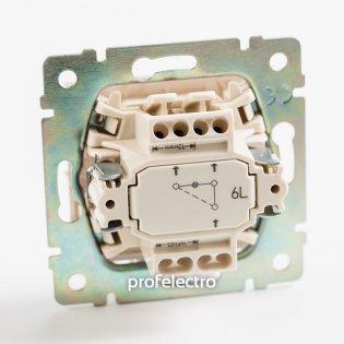 774326 Механизм выключателя одноклавишного проходного с подсветкой слоновая кость 10А 250В Valena Legrand на profelectro.com.ua