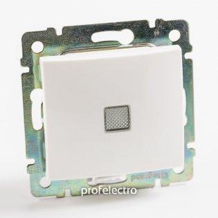 774448 Выключатель одноклавишный крестовой с подсветкой белый без рамки 10А 250В Valena Legrand на profelectro.com.ua