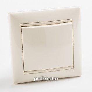 774311 Выключатель одноклавишный однотактный (кнопка) слоновая кость  с рамкой 10А 250В Valena Legrand на profelectro.com.ua