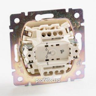 770111 Механизм выключателя одноклавишного однотактного (кнопки) алюминий 10А 250В Valena Legrand на profelectro.com.ua