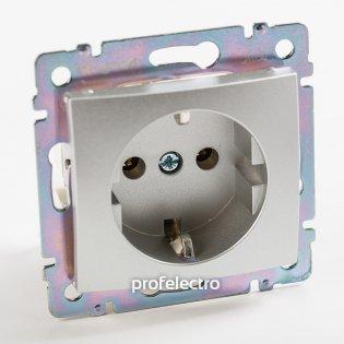 770120 Розетка с заземляющим контактом алюминий без рамки 16А, 250В Valena Legrand на profelectro.com.ua