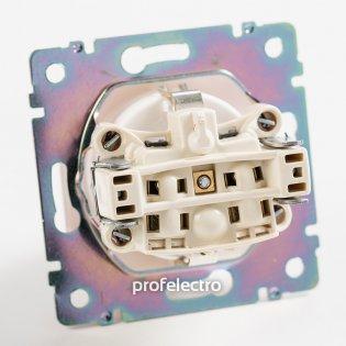 770121 Механизм розетки с заземлением и защитными шторками алюминий 16А, 250В Valena Legrand на profelectro.com.ua