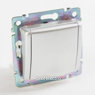 770122 Розетка с заземляющим контактом и крышкой алюминий без рамки 16А, 250В Valena Legrand на profelectro.com.ua