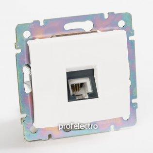 774438 Розетка телефонная один выход белая без рамки Valena Legrand на profelectro.com.ua