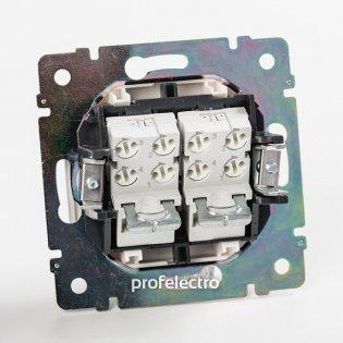 770139 Механизм розетки телефонной два выхода алюминий Valena Legrand на profelectro.com.ua