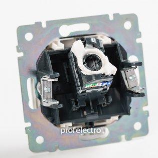770246 Механизм розетки информационной RJ45 кат.6 один выход в сборе алюминий Valena Legrand на profelectro.com.ua