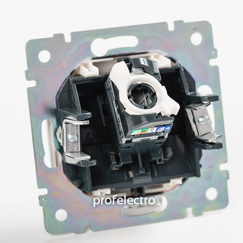 Механизм розетки информационной RJ45 кат.6 один выход в сборе алюминий Valena