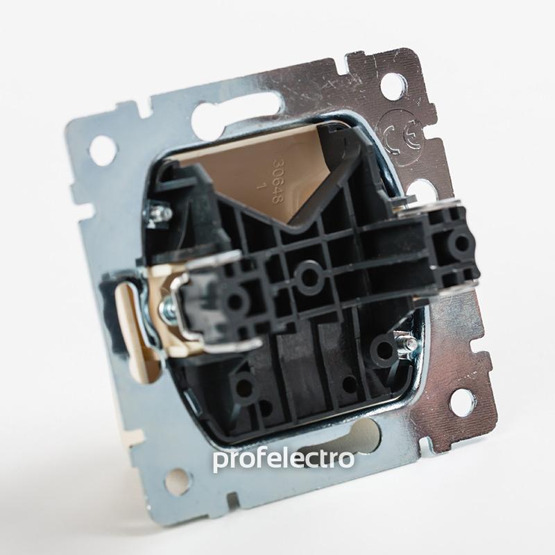 Механизм вывода кабеля в сборе белый Valena