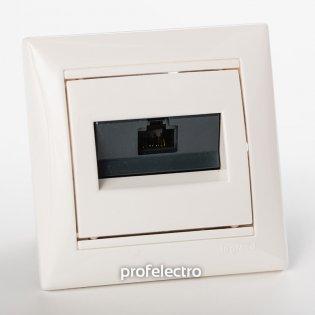 774238 Розетка информационная RJ45 кат.5е одинарная белая с рамкой Valena Legrand на profelectro.com.ua