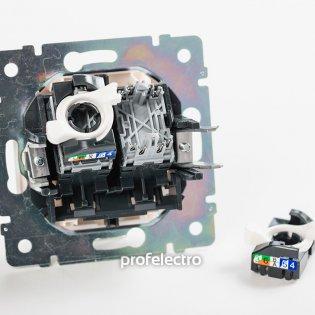 774239 Механизм розетки информационной RJ45 кат.5е двойной белый Valena Legrand на profelectro.com.ua