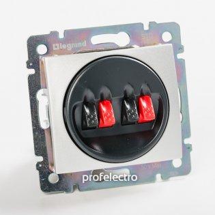 770124 Розетка акустическая двойная алюминий без рамки Valena Legrand на profelectro.com.ua