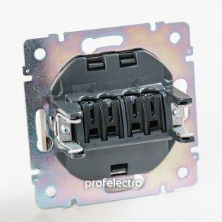 770124 Механизм розетки акустической двойной алюминий Valena Legrand на profelectro.com.ua