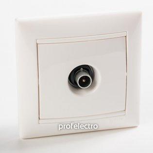 774431 Розетка телевизионная TV-проходная  белая с рамкой Valena Legrand на profelectro.com.ua