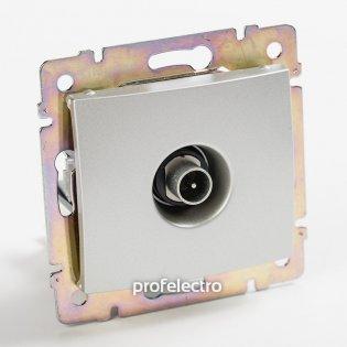 770131 Розетка телевизионная TV-проходная  алюминий без рамки Valena Legrand на profelectro.com.ua