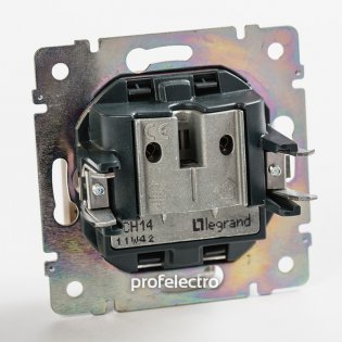 770134 Механизм розетки телевизионной TV-R-проходной алюминий Valena Legrand на profelectro.com.ua