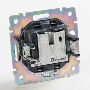 770135 Механизм розетки телевизионной TV-R-SAT-простой алюминий Valena Legrand на profelectro.com.ua