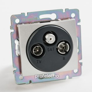 770136 Розетка телевизионная TV-R-SAT-концевая алюминий без рамки Valena Legrand на profelectro.com.ua