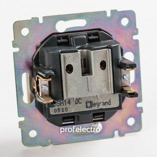 770137 Механизм розетки телевизионной TV-R-SAT-проходной алюминий Valena Legrand на profelectro.com.ua