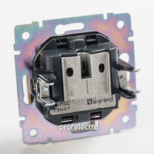 770410 Механизм розетки телевизионной TV-R-SAT-концевой два входа белый Valena Legrand на profelectro.com.ua