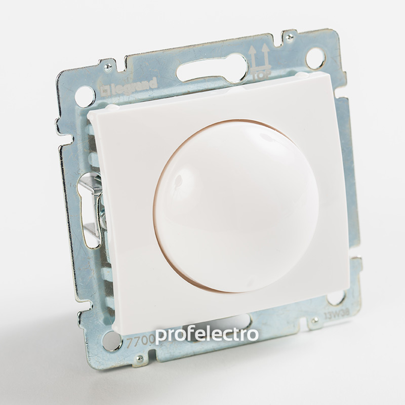 Светорегулятор поворотный белый без рамки Valena