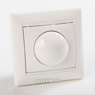 770061 Светорегулятор поворотный белый с рамкой Valena Legrand на profelectro.com.ua