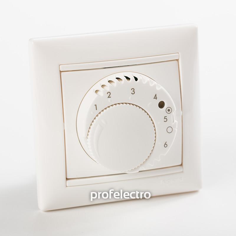 Терморегулятор стандарт белый с рамкой Valena