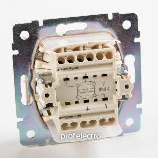 770097 Механизм выключателя одноклавишного крестового влагозащищенного белого 10А 250В Valena Legrand на profelectro.com.ua