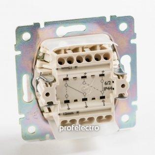 774198 Механизм выключателя двухклавишного проходного влагозащищенного слоновая кость 10А 250В Valena Legrand на profelectro.com