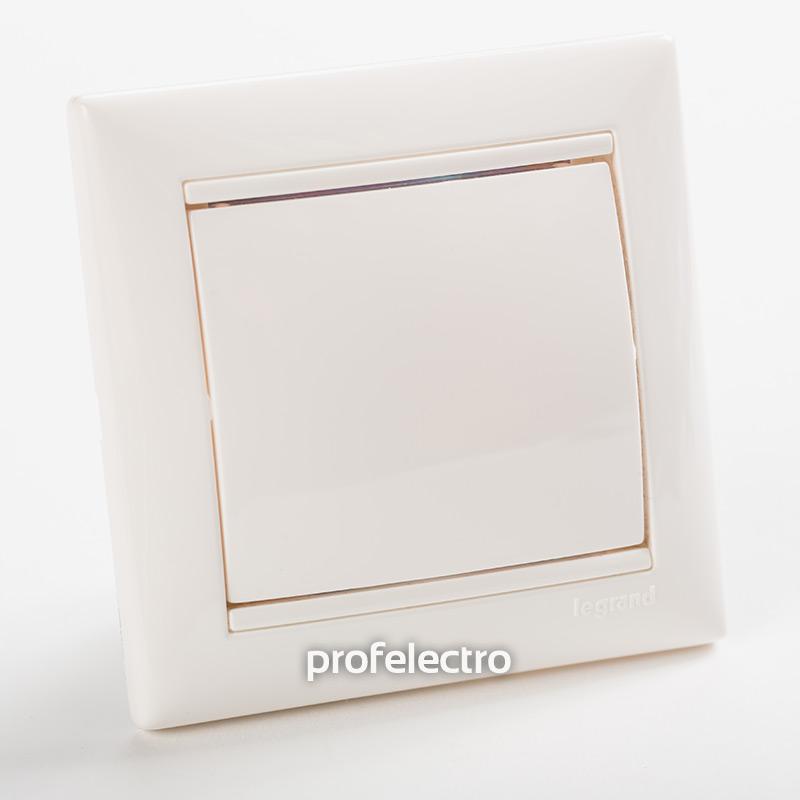 Заглушка декоративная белая с рамкой Valena