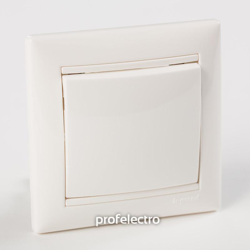 Рамка цвет белый в сборе с выключателем Valena