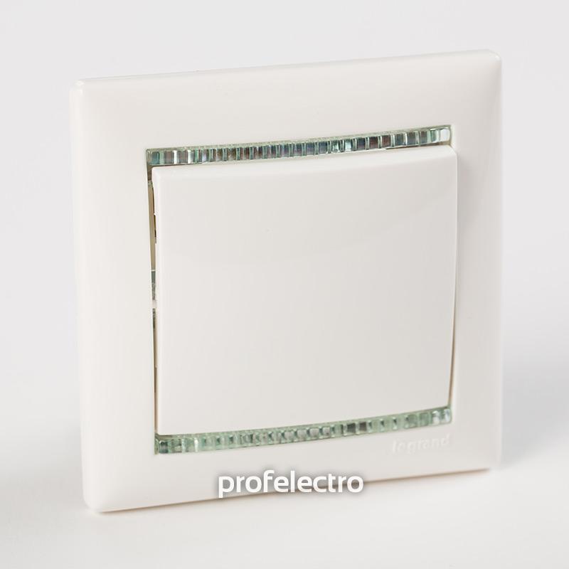 Рамка цвет белый-кристалл в сборе с выключателем Valena