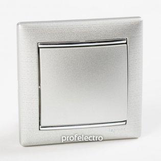 Рамка цвет матовый алюминий в сборе с выключателем Valena Legrand на profelectro.com.ua