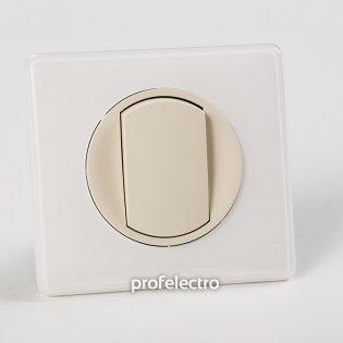 Рамка цвет белый глянец-панель слоновая кость Celiane Legrand на profelectro.com.ua
