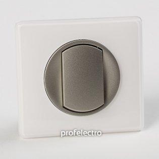 Рамка цвет белый глянец-панель титан Celiane Legrand на profelectro.com.ua