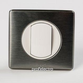 Рамка цвет вольфрам-панель белая Celiane Legrand на profelectro.com.ua
