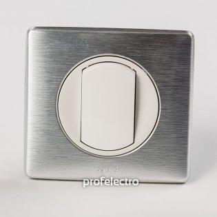 Рамка цвет алюминий-панель белая Celiane Legrand на profelectro.com.ua