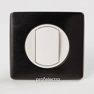 Рамка цвет карбон-панель белая Celiane Legrand на profelectro.com.ua