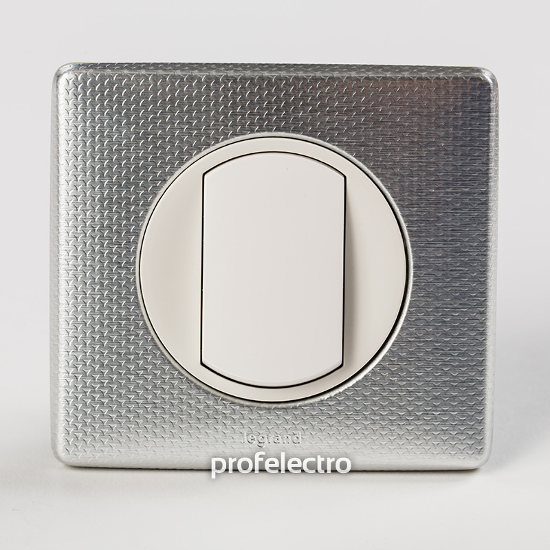 Рамка цвет сильвер пунктум-панель белая Celiane