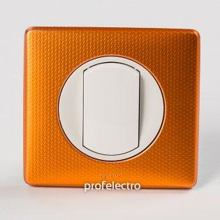 Рамка цвет оранж пунктум-панель белая Celiane Legrand на profelectro.com.ua