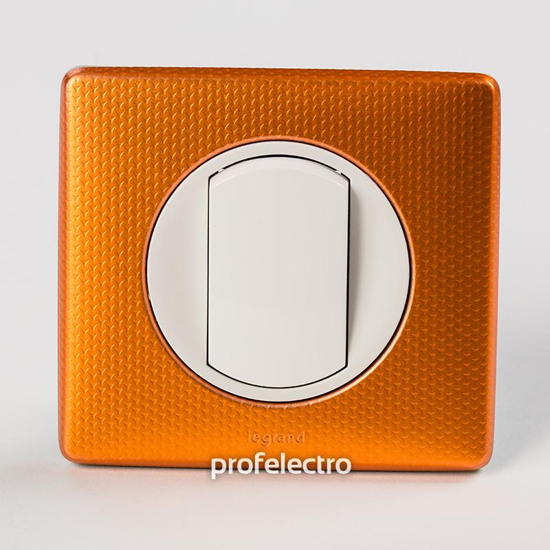 Рамка цвет оранж пунктум-панель белая Celiane